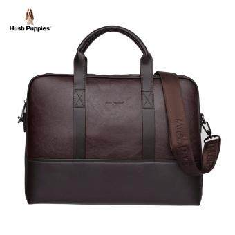 Hush Puppies Alvin Document Bag (Dark Brown)