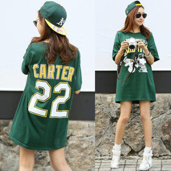 I mm300 Korean-style summer Plus-sized fitness T-shirt (Dark green history of road than (cotton Version))
