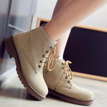 Harga [BelleShoez] Candy Colour Martin Boot - Beige (TFLR-410)