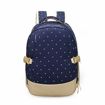 Harga AEQUEEN Oxford Fabric Baby Kids Diaper Bag Nappy Changing Mother Outdoor Pad Mummy Bag Backpack Shoulder Bag Milk Bottle Mommy Bag Baby Care Supplies Blue