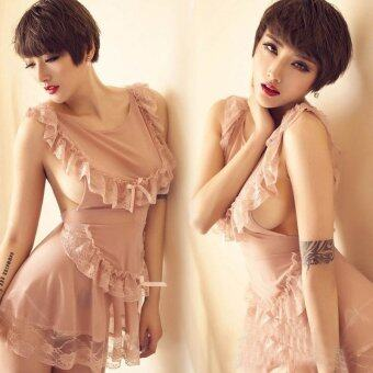 Harga MeiNiang Brand skin beautiful maid cookie Lace Lingerie Sexy backless trade new 7040