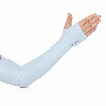 Harga Aonijie E4039 Soft Cool Compression Arm Sleeve UPF50+ With Finger Hole Light Blue For Outdoor Sport
