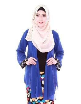 Harga Zahlia Modern Kebaya Cardigan in Royal Blue