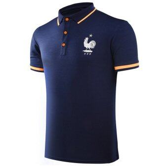 Harga UEFA Euro 2016 European Championship France Short Sleeve Football Summer Breathable Men POLO Shirts