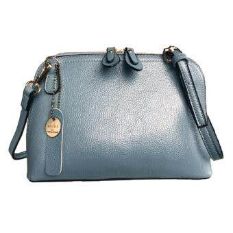 Harga Maire Quinn Saffiano Effect Fashion Leather Handbag_Light Blue