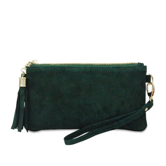 Harga Latinas Premium Suede Leather Wristlet (Green)
