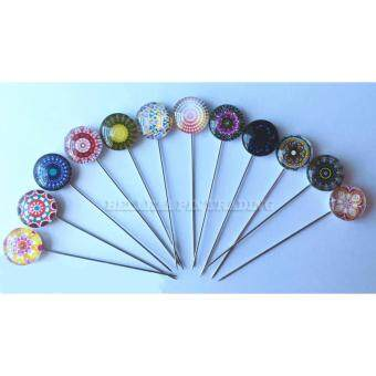 Harga 12pcs Hijab Pin ( Abstract Theme)