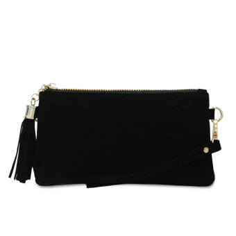 Harga Latinas Premium Suede Leather Wristlet (Black)