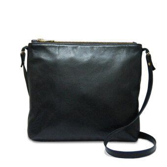 Harga Latinas Genuine Leather Casual Crossbody Sling Bag (Black)