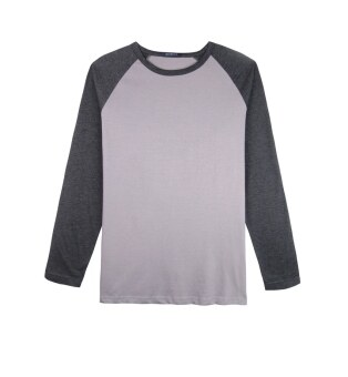 Harga F.O.S NAVY & NAVY MEN BASIC LIGHT GREY RAGLAN SLEEVED TEE