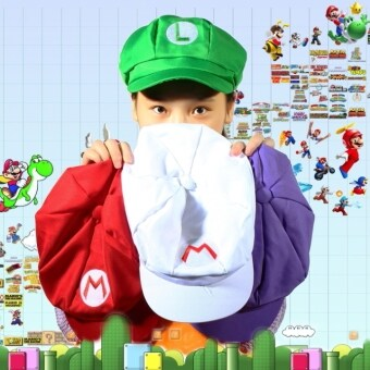 Harga Allwin Chic Luigi Super Mario Bros Cosplay Adult Size Hat Cap Baseball Costume New Red M