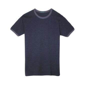 Harga F.O.S NAVY & NAVY MEN BASIC DARK NAVY CREW NECK TEE