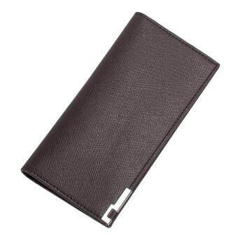 Harga UINN Long Slim Men Wallet 3 Colors Long Design Multifunctional PU Leather Purses Coffee color