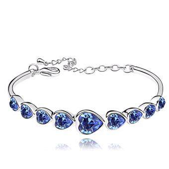 Harga LOVENGIFTS Swarovski Forever Love Bangle (Navy)