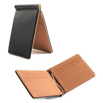Harga Stable Slim Money Clip Wallet Clip Type D Brown