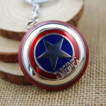Harga 1pcs Movie Key Chain Captain America Shield Keychain Men Gift Key Chain Key Holder(OVERSEAS)