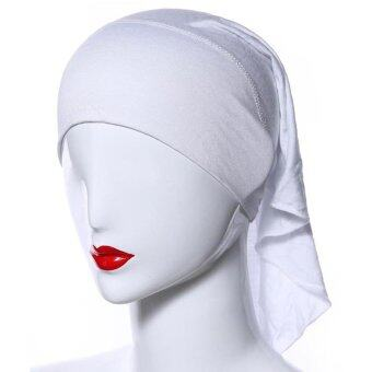 Harga Beautiful Women Muslim Inner Hijab Caps(White)