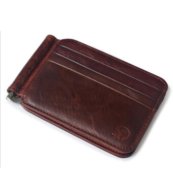 Harga Money Clip Front Pocket Wallet Slim Minimalist Wallet RFID Blocking wine red