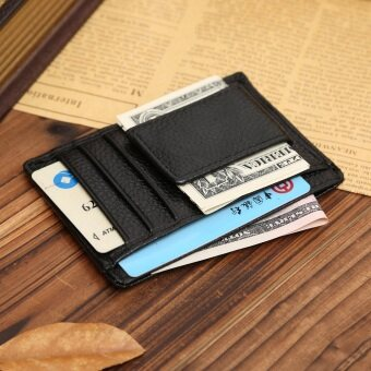 Harga Multi functional Money Clip Wallet Men Pu Leather for Money Cash Holder