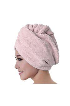 Harga Microfiber Bath Towel Hair Dry Hat Pink