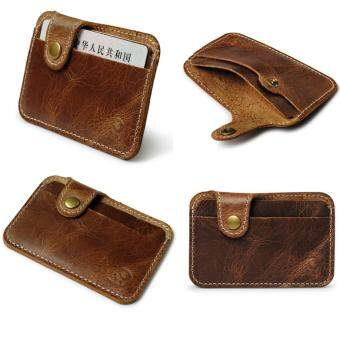 Harga CocolMax Fashion Money Clip Slim Credit Card ID Holder Wallet Money Cash Holder Brown
