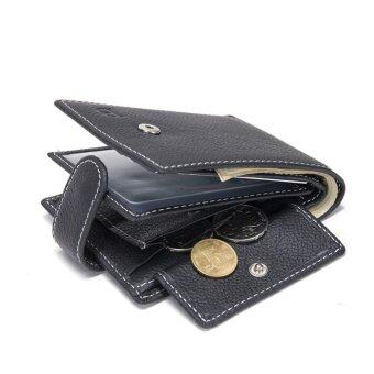 Harga Allwin MJ08 Baborry Men Wallets Card holder Coin Money Purse Genuine Leather Fashion Black