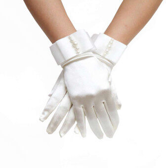 Harga Bridal Gloves With Nice Beadings Dinner Gloves Wedding Gloves