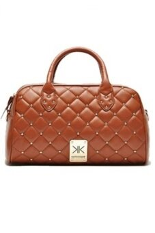Harga Kardashian Collection Quilted Bowling Bag (Brown)