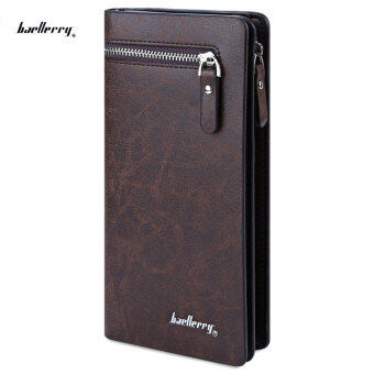 Harga Baellerry Clutch Wallet Cell Phone Money Photo Card Wallet Men VERTICAL(Coffee)