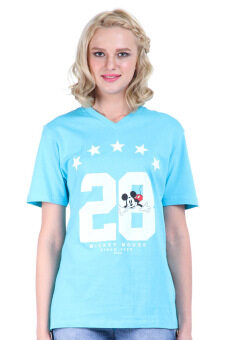 Harga Disney Mickey MIC-MT-44 L.Blue Unisex Short Sleeve T-shirt
