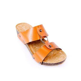 Harga Latinas Sandal With Centered Metal Ring (Brown)