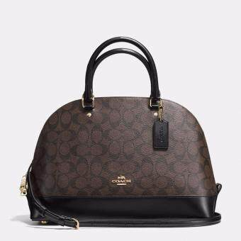 Harga Coach Sierra Satchel In Signature (Dark Brown)