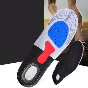 Harga 1 Pair Sports Insole Breathable Comfort - heel pain, plantar fasciitis, knee, and back pain - Superb quality