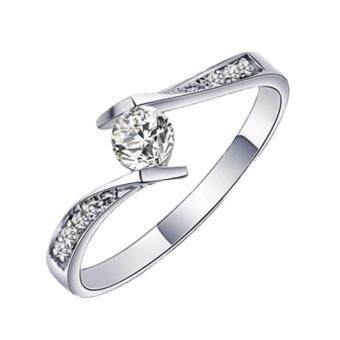 Harga Elfi 925 Genuine Silver Engagement Ring T1 - The Final Love