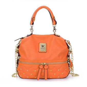 Harga Kardashian Kollection Semi Quilted Design Shoulder Bags (Orange)