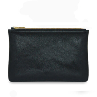 Harga Latinas Genuine Leather Clutch With Top Zipper (Black)