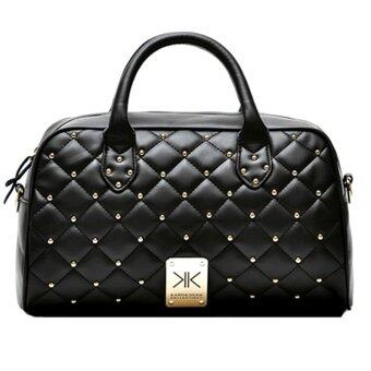 Harga Kardashian Kollection Quilted Bowling Design Handbag - Black