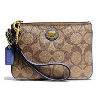 Harga Coach F50142 Peyton Signature Small Wristlet Purses (Light Blue)