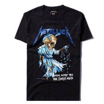 Harga Hequ Justin Bieber Metallica T Shirt Black Cotton T-Shirt Fear Of God Rock Star Swag Tyga Tops Black