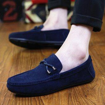 Harga LCFU764 Fashion Casual Breathable Flats Outdoors Men Shoes Driving Loafers-blue