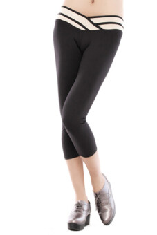 Harga Lalan Sport Stretch Cropped Leggings (Black)