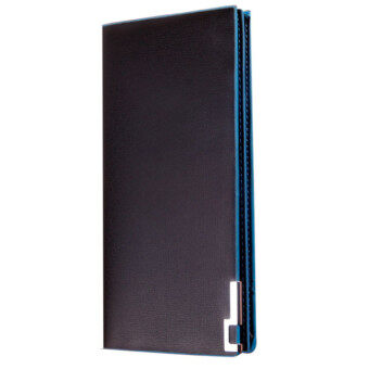 Harga Long Thin Wallet Male Money Purses Flip Up Wallet Blue