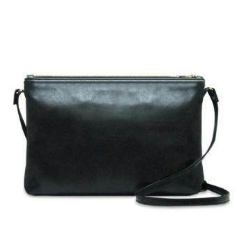 Harga Latinas Genuine Leather Casual Sling Bag (Black)