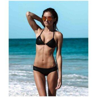 Harga Bolster Store Women Ladies Neoprene Bikini Triangle Set Swimsuit Beachwear Padded Sexy wear (Black)