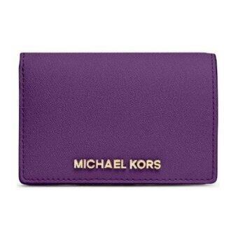 Harga Michael Kors Jet Set Flap Card Holder (Purple)