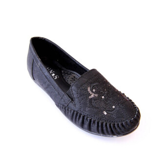 Harga Latinas Moccasin With Flower Sequin Embroidery (Black)