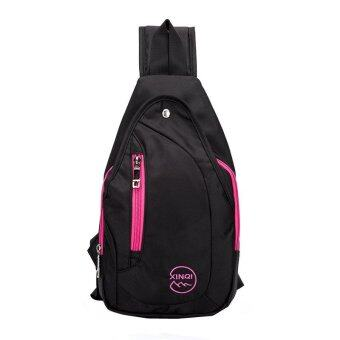 Harga Xinqi Waterproof Outdoor Hiking Camping Shoulder Backpack-Pink