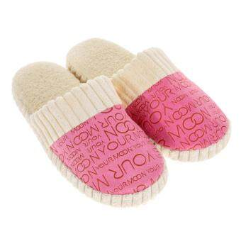 Harga Women Warm Soft Anti-Slip Slipper Pink