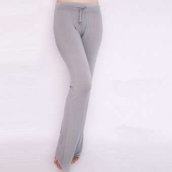 Harga Women Casual Loose Yoga Pant Trousers(Gery)