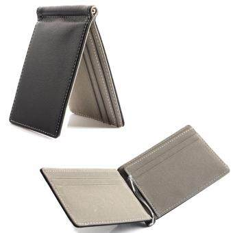 Harga Slim Money Clip Wallet Type D Grey